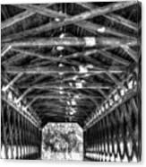 Sachs Bridge - Gettysburg - Bw-hdr Canvas Print