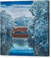 Sachs Bridge In Infrared Canvas Print