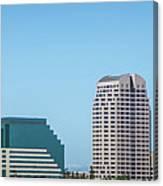 Sacramento California Cityscape Skyline On Sunny Day Canvas Print