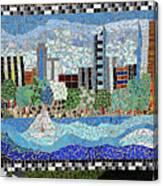 Sacramento City Skyline Mosaic Canvas Print
