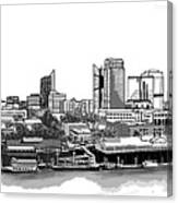 Sacramento Skyline N. Canvas Print