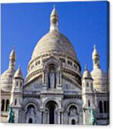 Sacre Coeur Front View Canvas Print