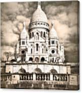 Sacre Coeur Sepia Canvas Print