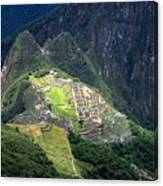 Sacred City Of Machu Picchu Canvas Print