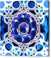 Sacred Geometry Blue Shapes Background Canvas Print