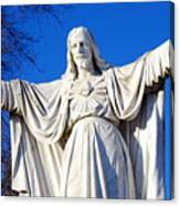 Sacred Heart Statue Canvas Print
