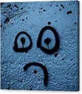 Sad Graffiti Canvas Print