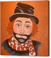 Sad Sack The Clown Canvas Print