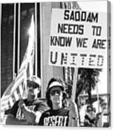 Saddam Needs To Know Pro Desert Storm Rally Tucson Arizona 1991 Canvas Print