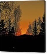 Saffron Sunset Canvas Print