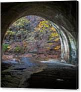 Sagamore Creek Tunnel Exit Interior Canvas Print