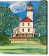 Saginaw River Light Canvas Print