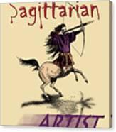 Sagittarian Artist Canvas Print