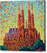 Sagrada Familia Barcelona Spain Canvas Print