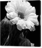 Saguaro First Bloom Canvas Print