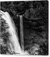 Sahalie Falls No. 4 Bw Canvas Print