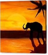 Sahara Susnet Canvas Print
