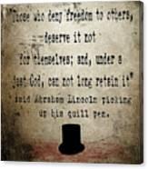 Said Abraham Lincoln Canvas Print