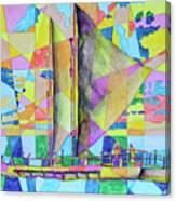 Sail Away Sunset Canvas Print
