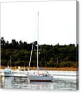 Sail Boat At Anchor  Canvas Print