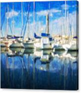 Sail Boats In Port Canvas Print