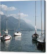 Sail Boats, Lake Como, Italy Canvas Print