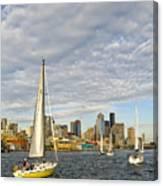 Sail On Seattle Canvas Print