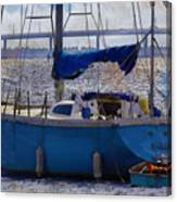 Sailboat And Dingy Canvas Print