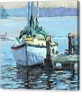 Sailboat At Rest Canvas Print