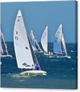 Sailboat Championship Racing 2 Canvas Print