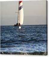 Sailboat Coming Ashore 1 Canvas Print