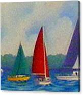 Sailboat Fiesta II Canvas Print