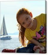 Sailboat Girl Canvas Print