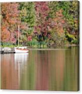 Sailboat In A Lake Canvas Print