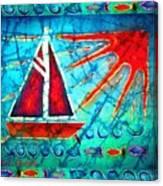 Sailboat In The Sun Canvas Print
