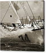 Sailboat Le Pingouin Open 60 Sepia Canvas Print