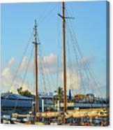 Sailboat, Mast, And Sails Canvas Print