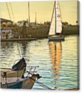 Sailboat On Arrival Canvas Print