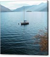 Sailboat On Lake Maggiore Canvas Print