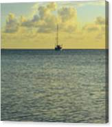 Sailboat On The Horizon Canvas Print