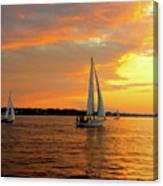 Sailboat Parade Canvas Print