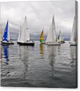 Sailboat Race Seattle Canvas Print