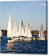 Sailboat Racing Canvas Print