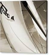 Sailboat Sails And Spinnaker Fate Beneteau 49 Charelston Sc Canvas Print