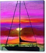 Sailboat Silhouette Canvas Print