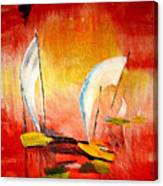 Sailboats Canvas Print