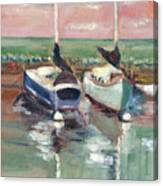 Sailboats In Lahaina Canvas Print