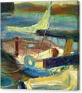 Sailboats Moored Canvas Print