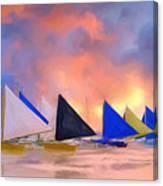 Sailboats On Boracay Island Canvas Print