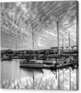 Sailer's Delight Black And White Canvas Print